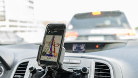 GPS im Smartphone Lizenzfreies Stockbild