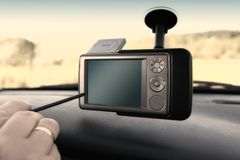Free GPS - In The Car Stock Image - 1290631