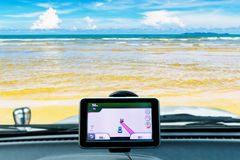 GPS and Island Royalty Free Stock Photography