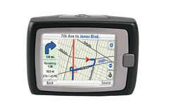 GPS isolado Foto de Stock Royalty Free