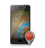 Gps locator illustration design Stock Images