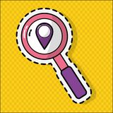 Gps and lupe design. Gps and lupe of travel navigation and route Vector illustration Royalty Free Stock Photo