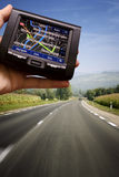 GPS in a man hand Royalty Free Stock Photo