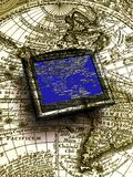 Gps map Stock Photography