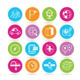 GPS and map icons Stock Photo