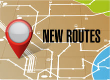 Gps map new route illustration design Royalty Free Stock Photos
