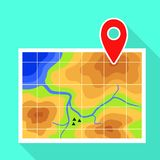 Gps map pin icon, flat style vector illustration