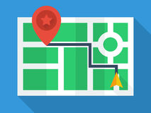 GPS Map Top View stock illustration