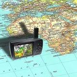gps mapa Zdjęcie Stock