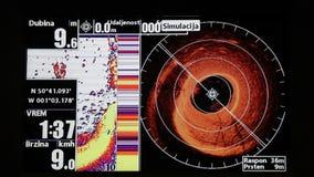 GPS marino y sonar metrajes