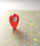 GPS Mark Road Map Imagem de Stock