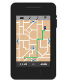 Gps mobile Stock Photography
