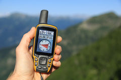 GPS in the mountains Stock Images