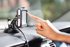 GPS navigatie Royalty-vrije Stock Foto's