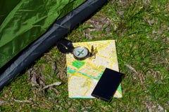 GPS-navigatie, reis en toerisme concept01 Royalty-vrije Stock Fotografie