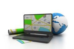 GPS-navigatiesysteem Vector Illustratie