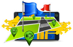 Gps navigation & arrow Stock Image