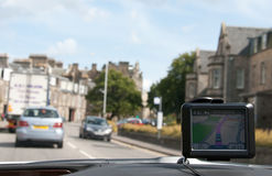 GPS Navigation in  Car Royalty Free Stock Photography