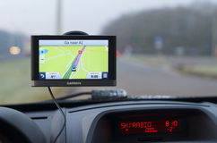 Gps navigation in car Royalty Free Stock Photos