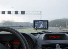 Gps navigation in car Stock Photo