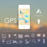 GPS Navigation Concept Stock Photos
