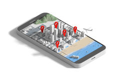 GPS navigation concept. Royalty Free Stock Photography