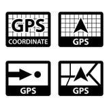 Gps navigation coordinates symbols Royalty Free Stock Image