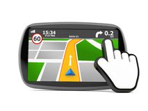 GPS navigation with cursor Stock Images