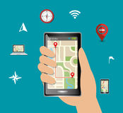 GPS navigation design. Illustration eps10 graphic Stock Photos