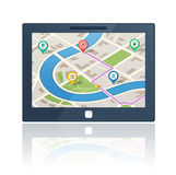 Gps navigation device Royalty Free Stock Photos
