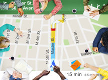 GPS Navigation Directions Location Map Concept Stock Images