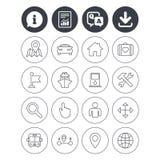 GPS navigation icon. Car, Bus and Ship transport. Royalty Free Stock Photos