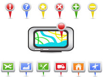 GPS and Navigation icons. For design Stock Photo