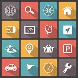 GPS navigation icons Stock Photography