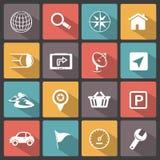 GPS navigation icons Stock Photography