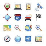 Gps Navigation Icons Royalty Free Stock Image