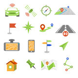 GPS navigation icons Royalty Free Stock Images