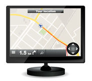 GPS navigation Stock Images