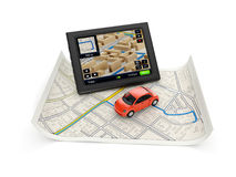 GPS navigation map Royalty Free Stock Image