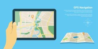 Gps navigation map Stock Photos