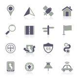 Gps, navigation and road icons royalty free illustration