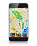 GPS navigation on smartphone Royalty Free Stock Image