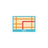 GPS navigation solid icon, car element navigator Royalty Free Stock Photos
