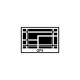 GPS navigation solid icon, car element navigator Royalty Free Stock Photo