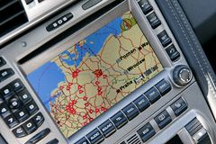 GPS Navigation System Stock Photo