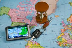 GPS Navigation system Royalty Free Stock Photography