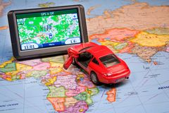 GPS Navigation system Stock Photography