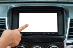 Gps Navigation System In Car Royalty Free Stock Photography