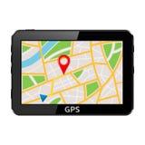 GPS navigation system device Stock Photos