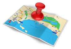 GPS navigation, travel and tourism concept Stock Photo